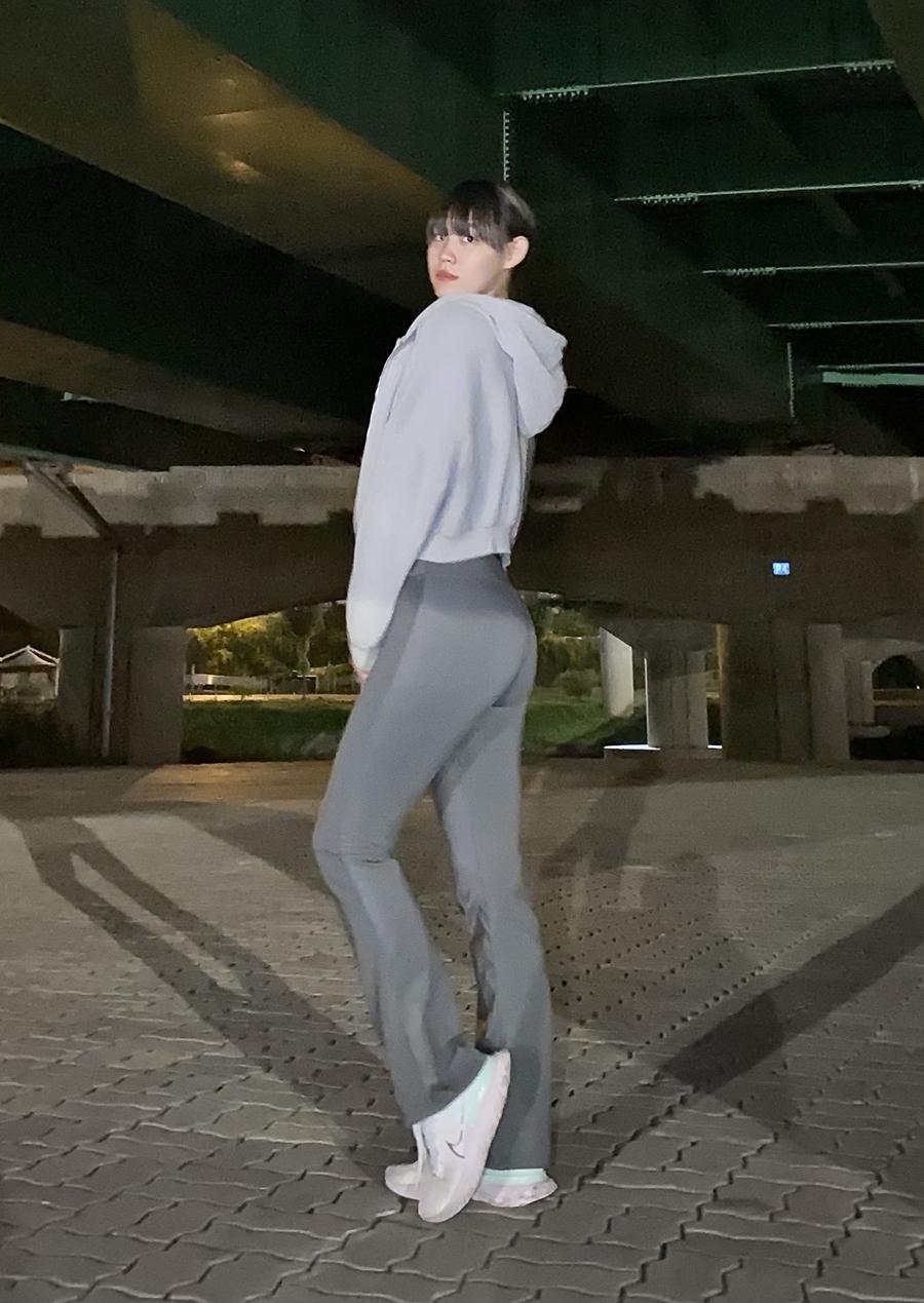 버블라임(BUBBLELIME) 리플렉스 인포켓 부츠컷 나팔바지 레깅스 요가복_A01